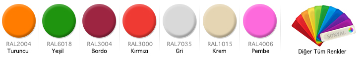 Okul Sırası Renk Seçenekleri